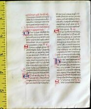 Deco.vellum manuscript lf.Breviary,many handpainted deco.initials,c.1460