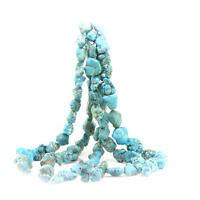 Beads Dyed Blue Green Magnesite Nuggets USA SELLER BB12 16 inch strand Chunky