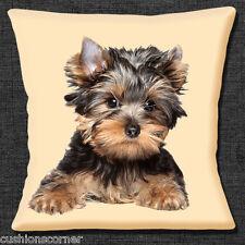 Yorkshire Terrier Perro Funda de cojín 40.6cmx40.6cm 40cm Marrón Negro Yorkie