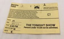 THE TONIGHT SHOW JOHNNY CARSON Oct. 23,1985 Stand-by Ticket - Admit 4