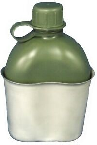 TAS Stainless Steel Kidney Canteen Cup + 1L Military Canteen Combo