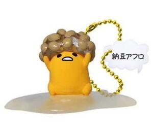 Gudetama Swing Mascot PVC Keychain Lazy Egg Figure ~ Natto #B @83918