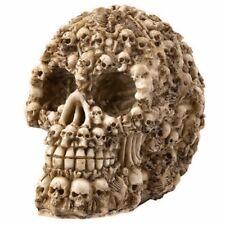 Decorative Human Skull Made Of Bones & Skeletons Day Of The Dead Figurine Skulls