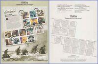 USA #3186 U/A SOUVENIR PAGE FDC SvSht  Celebrate the Century - 1940s