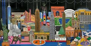 Limited edition signed/numbered digital print of original painting 'New York'