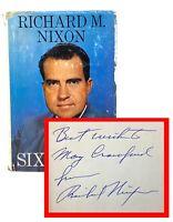 Richard Nixon - Six Crises - SIGNED 1st 1st - American 37th President