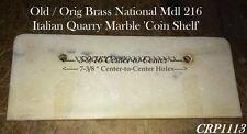 Old & Orig Sm Mdl 216 Brass Nat'l Candy Cash Register Italian Marble Coin Shelf