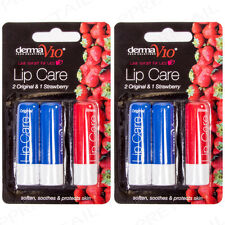 6Pc Lip Balm Strawberry & Original Flavours Medicated Mouth & Skin Care/Protect