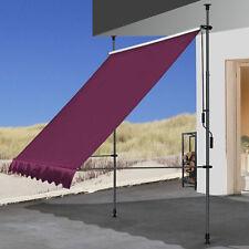 QUICK STAR Klemmmarkise 300 x130cm Bordeaux Balkonmarkise Sonnenschutz