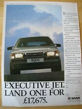 SAAB AIRCRAFT INSPIRED 9000 RANGE POSTER ADVERT READY FRAME A4 SIZE FILE L