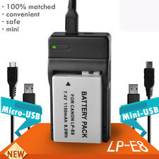 USB BATTERY Charger for Canon LP-E8 EOS 700D 650D 550D 600D FOR AC ADAPTER