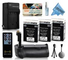 Empuñaduras de batería para cámaras de vídeo y fotográficas Canon sin batería incluida