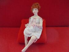 Dollhouse Doll 1:12 scale Redhead Woman in Nightgown