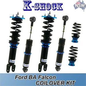 FORD BA FALCON K-SHOCK 24 LEVEL ,FULL ADJUSTABLE COILOVER FULL SET