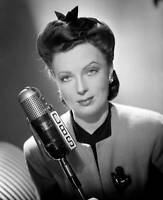 CBS OLD TV RADIO PHOTO Agnes Moorehead At Cbs Radio Microphone