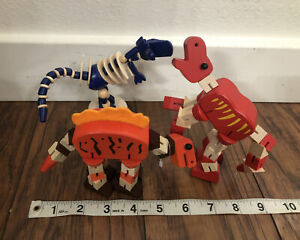 3 Wood Dinosaur Fidget Toy Anxiety Focus AD Figures Toys