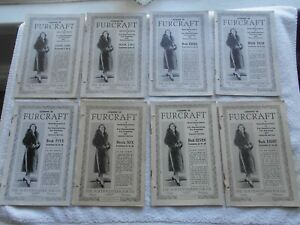 LESSONS IN FURCRAFT--1-8 BOOKS-1-40 LESSONS-THE NORTHWESTERN FUR CO.-(1932)