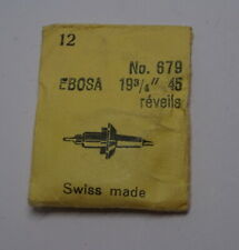 45 réveils, Ronda 679 (Nos) watch part 1 Only Vintage Ebosa Balance Staff Cal.