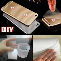 DIY Clear 3D Texture Carbon Fiber Vinyl Tape Wrap Film Sticker for Car Phone CF