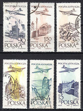 Poland - 1957 Airmail city views - Mi. 1035-40 VFU
