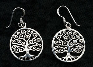 Ohrring Lebensbaum Celtic-Silber 925-3g-18 mm-W40 10096