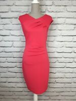 LIPSY Womens Pink Sleeveless Bodycon Summer Occasion Party Dress UK 12 UK 8