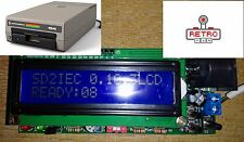 Commodore 64 /128 1541 Disk Drive Emulation Sd2iec LCD SD Card Reader V.2017