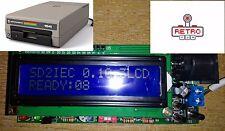 Commodore 64/128 1541 disque émulation LCD SD2IEC lecteur de carte SD v.2017 NEUF