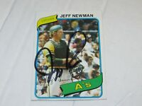 JEFF NEWMAN AUTOGRAPHED CARD