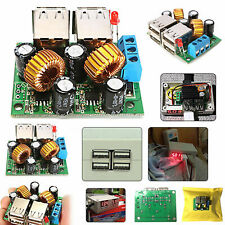 4 Port USB To 5V 5A Step Down DC 12V Power Supply Module Mobile Fast Charger UK