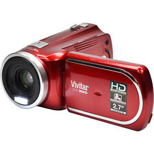 Vivitar DVR 960HD 1080p HD 12x Optical Zoom Video Camera Camcorder Red