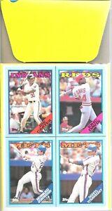 1988 Topps EMPTY Display 36 Ct Box Don Mattingly On Top Eric Davis Baseball