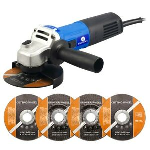 850W ELECTRIC ANGLE GRINDER CUTTING GRINDING SANDING POWER TOOL 115mm DISC CUT