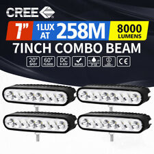 4x 7inch CREE LED Work Light Bar Spot Flood Reverse Driving Lamp OffRoad 4WD 4X4