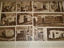Photo article caravans Health and Holidays Exhibition Earl's Court 1948 ref Z2