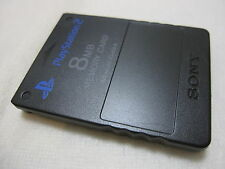 7-14 Days to USA. PS2 Black Memory Card. Made in Japan Version. Memory Card Only