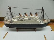 Titanic Wooden Boat Model Highly Detailed 18X10 White Star HANDMADE? Estate Buy
