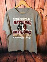 2013 National Champions Florida State Seminoles Football Adult Large T-Shirt 🔥