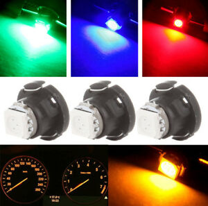 30pcs Car Panel Gauge Lamp T4.7 Wedge 5050-SMD Light Bulb 5-color LED Lights