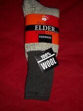 1 Pair Large Elder 100 % Virgin Wool Huskie Thermal Boot Sock 9-11 Made in USA