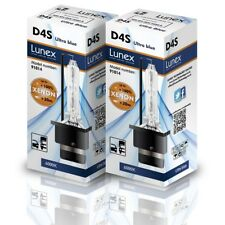 2 x LUNEX XENON D4S Genuine BULB REPLACEMENT FOR OSRAM , GE OR PHILIPS  - 6000K