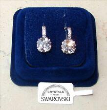 Orecchini da donna pl.oro bianco 18K zirconi cristalli swarovski veri SW11/punto