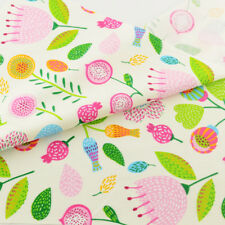 Teramila Cotton Fabric Pink Floral Quilting Patchwork 100cmx160cm Cloth Sewing