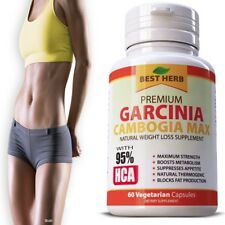 GARCINIA CAMBOGIA MAX 95% HCA SLIM FAT BURNER WEIGHT LOSS DIET SUPPLEMENT 60CAPS