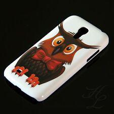 Samsung Galaxy S4 mini i9195 Hard Case Handy Hülle Schutz Etui Eule Schleife Owl