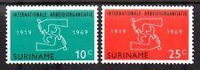 Suriname - 1969 50 years ILO Mi. 562-63 MNH