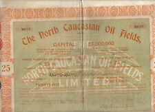 Original Russia Bond 1920 North Caucasian Oil Fields 25 shares Uncancelled coup