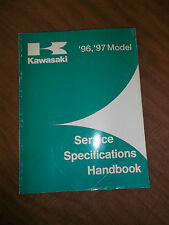 1997 1996 Kawasaki Service Specification Handbook Manual Motorcycle Atv Uv Oem