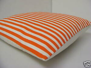 SEASIDE STRIPED CUSHION COVERS MADE FROM IKEA RED WHITE STRIPED FABRIC