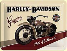 Harley Davidson 750 flathead signe en Acier (na 2015)